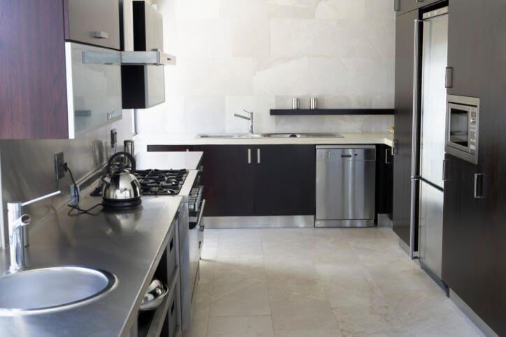 limpiar cocina acero inox